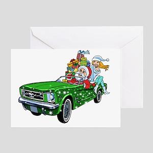 Mustang Car Christmas Greeting Cards Cafepress