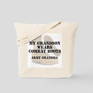 Army Grandma Grandson wears DCB Tote Bag