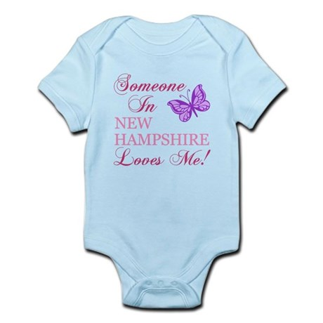 New Hampshire State (Butterfly) Infant Bodysuit