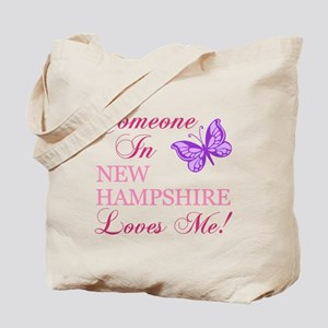 New Hampshire State (Butterfly) Tote Bag