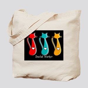 Social worker 5 Cats Tote Bag