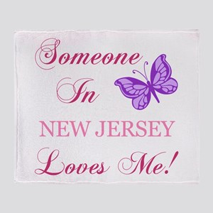 New Jersey State (Butterfly) Throw Blanket
