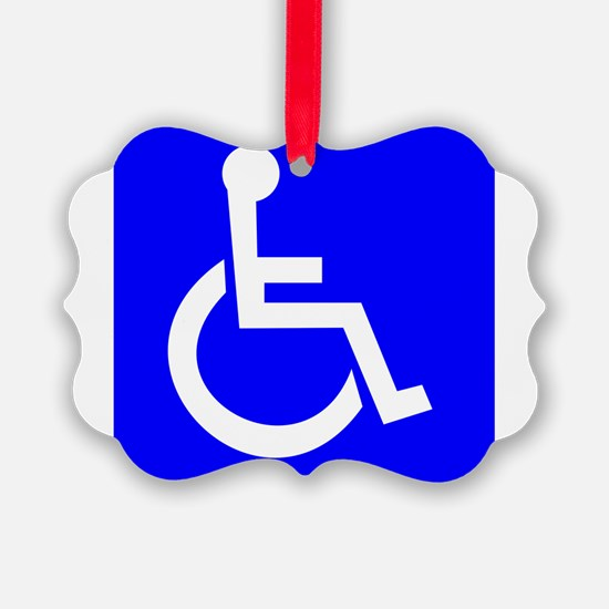 Handicap Sign Ornament