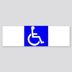 Handicap Sign Bumper Sticker