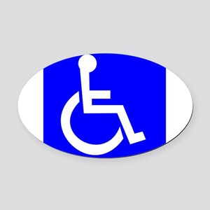Handicap Sign Oval Car Magnet