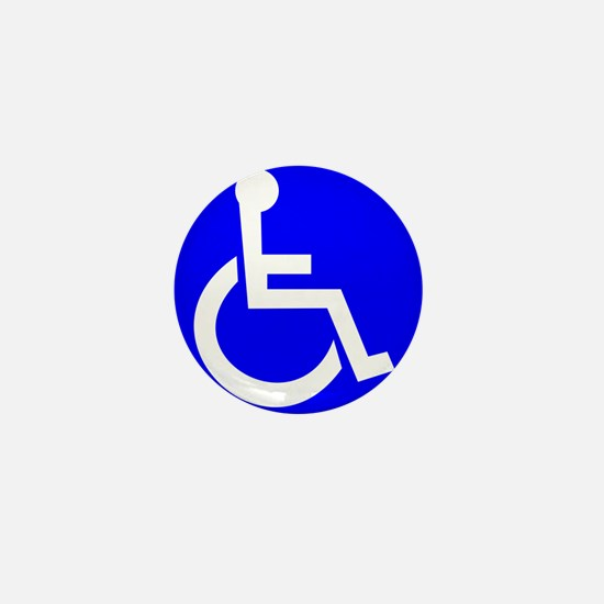 Handicap Sign Mini Button
