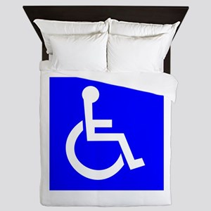 Handicap Sign Queen Duvet