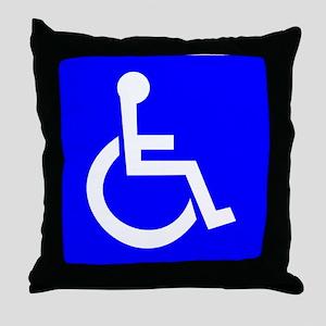 Handicap Sign Throw Pillow