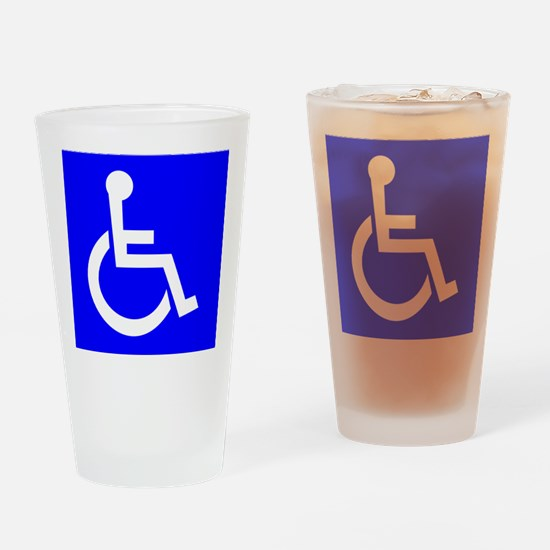 Handicap Sign Drinking Glass