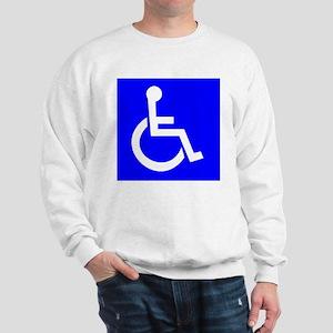Handicap Sign Sweatshirt