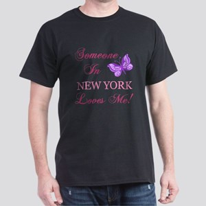 New York State (Butterfly) Dark T-Shirt
