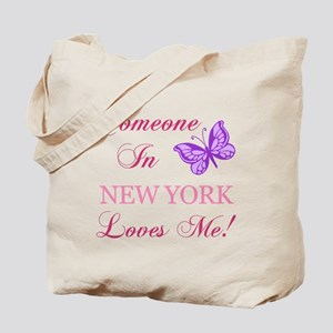 New York State (Butterfly) Tote Bag