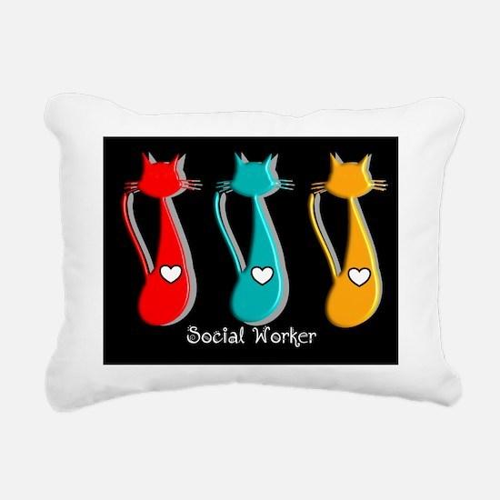 Social worker 5 Cats Rectangular Canvas Pillow
