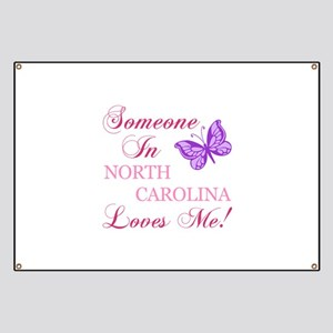 North Carolina State (Butterfly) Banner