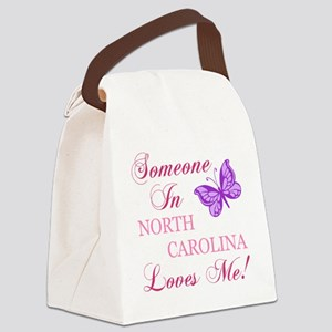 North Carolina State (Butterfly) Canvas Lunch Bag