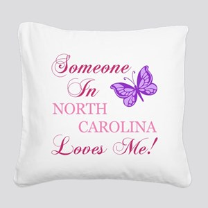 North Carolina State (Butterfly) Square Canvas Pil