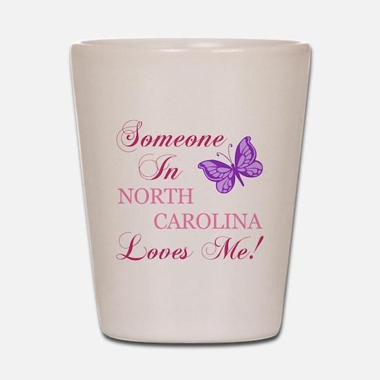 North Carolina State (Butterfly) Shot Glass