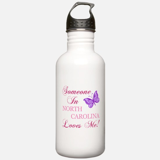 North Carolina State (Butterfly) Water Bottle