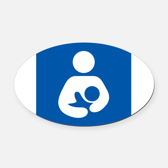 Breastfeeding Symbol Oval Car Magnet