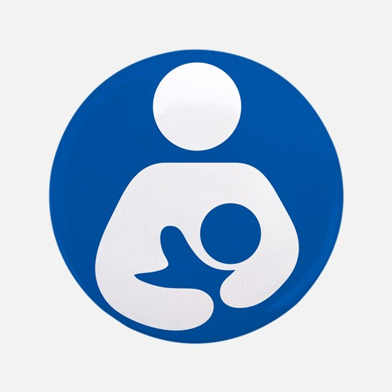 "Breastfeeding Symbol 3.5"" Button (100 pack)"