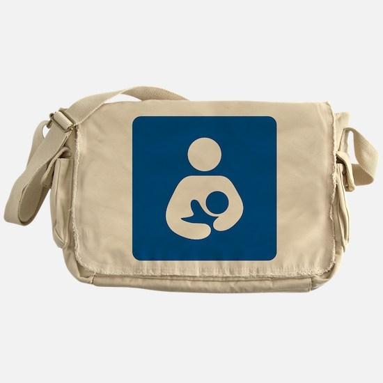 Breastfeeding Symbol Messenger Bag