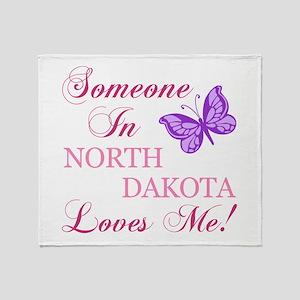 North Dakota State (Butterfly) Throw Blanket