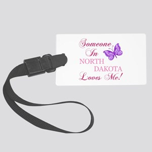 North Dakota State (Butterfly) Large Luggage Tag