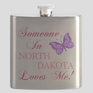 North Dakota State (Butterfly) Flask