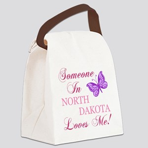 North Dakota State (Butterfly) Canvas Lunch Bag
