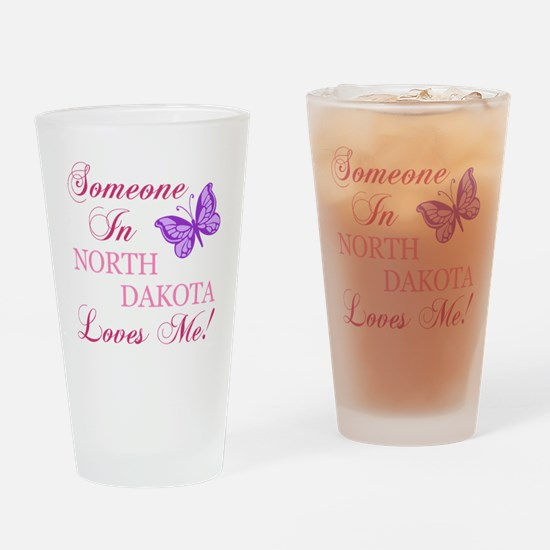 North Dakota State (Butterfly) Drinking Glass