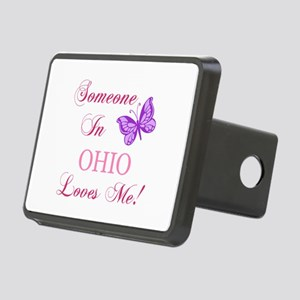 Ohio State (Butterfly) Rectangular Hitch Cover