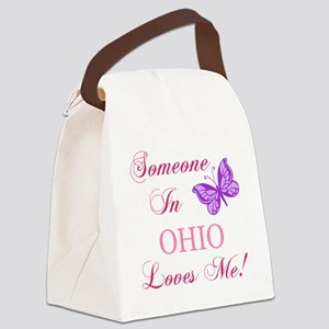 Ohio State (Butterfly) Canvas Lunch Bag