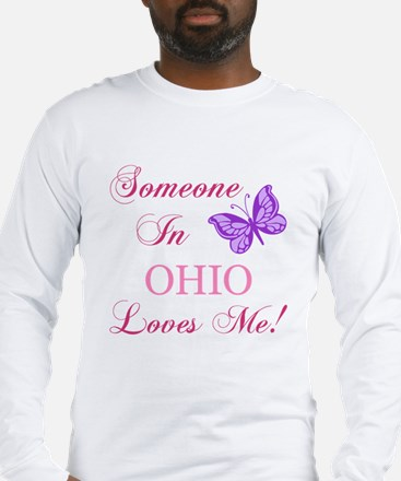 Ohio State (Butterfly) Long Sleeve T-Shirt