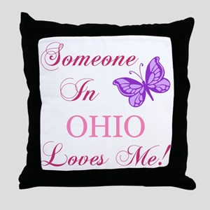 Ohio State (Butterfly) Throw Pillow