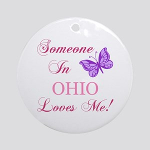 Ohio State (Butterfly) Ornament (Round)