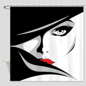 Glamorous Woman Shower Curtain