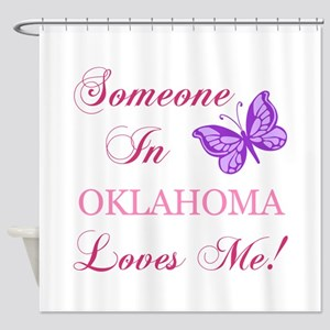 Oklahoma State (Butterfly) Shower Curtain