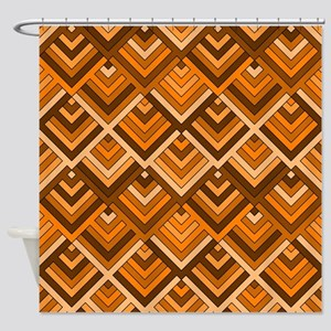 shaped memory of the 60s terra Shower Curtain