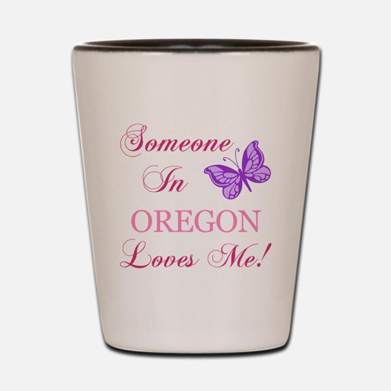Oregon State (Butterfly) Shot Glass