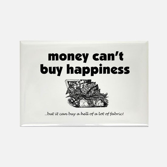 Money Can't Buy Happiness - F Rectangle Magnet