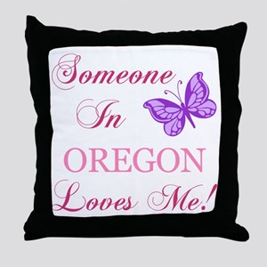 Oregon State (Butterfly) Throw Pillow