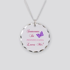 Pennsylvania State (Butterfly) Necklace Circle Cha