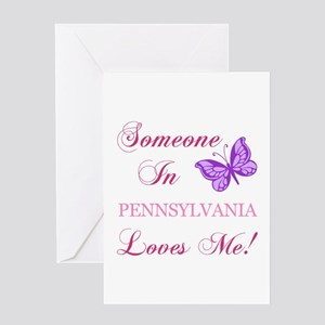 Pennsylvania State (Butterfly) Greeting Card