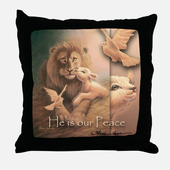 """""""He is our Peace"""" Christian Fine Art Pillow"""