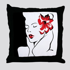 Glamorous Woman Throw Pillow