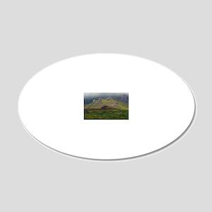 Isle of Skye, Scotland 20x12 Oval Wall Decal