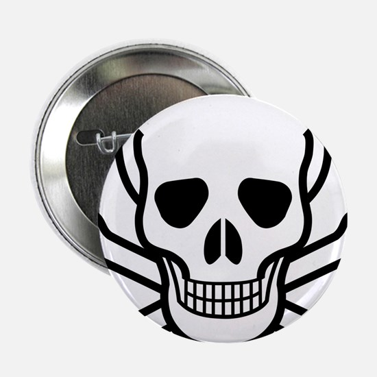 "Skull and Crossbones 2.25"" Button"