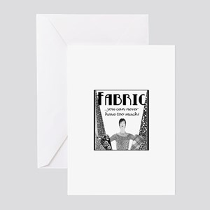 Fabric - Never Too Much Greeting Cards (Package of