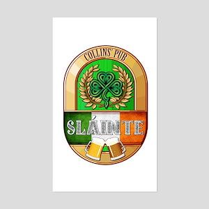 Collins' Irish Pub Sticker (Rectangle)