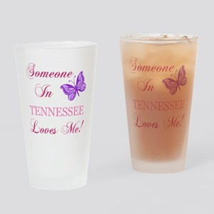 Tenessee State (Butterfly) Drinking Glass